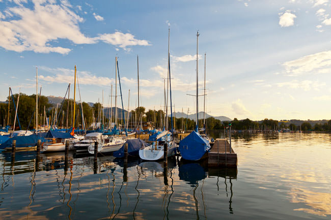Boote im Chiemsee